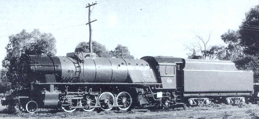 V 1213 stands at Hotham Valley Railway's Pinjarra depot following cosmetic restoration in 1986